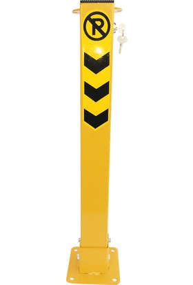 İlgi Trafik Yatar Otopark Bariyeri Gömme Kilitli Bariyer 75 cm Sarı Renk 5 Adet