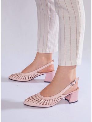 Ayakkabı Havuzu Topuklu Ayakkabı - Pudra - Ayakkabı Havuzu