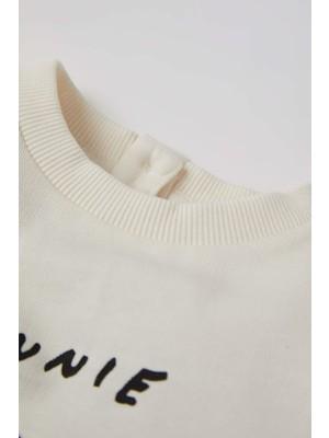 Defacto Kız Bebek Minnie Mouse Lisanslı Pamuklu Sweatshirt T8946A221AU