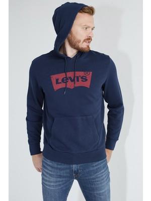 Levi's Logo Baskılı Kapüşonlu % 100 Pamuk Sweat Erkek Sweat 19622