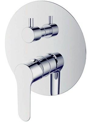 Bien 3 Yollu Waterflowbox Ankastre Duş Sistemi Seti Yuvarlak Krom