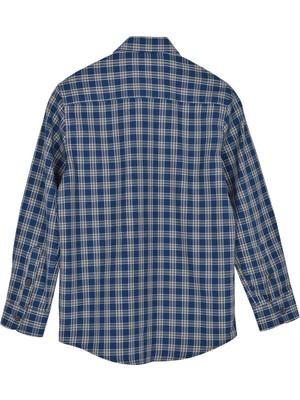 Erkek Çocuk Lacivert Renkli Dokuma Gömlek - Gc 315280