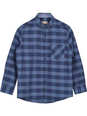 Erkek Çocuk Lacivert Renkli Dokuma Gömlek - Gc 315279