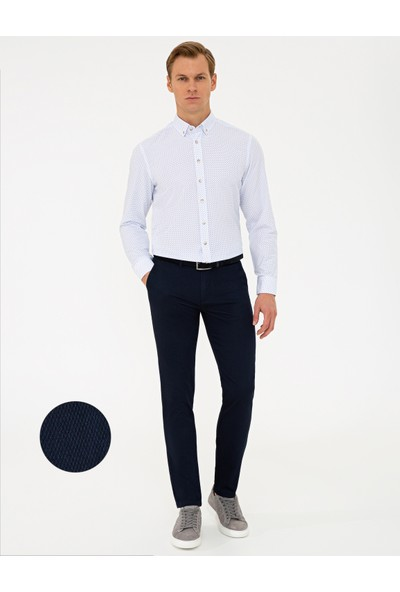 Pierre Cardin Lacivert Slim Fit Chino Pantolon 50240401-VR033