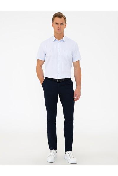 Pierre Cardin Lacivert Slim Fit Chino Pantolon 50240398-VR033