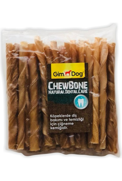 Gimdog Naturel Burgu Çubuk Köpek Ödülü (50LI Paket 5-6 Gr)