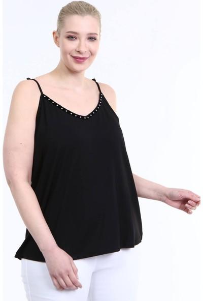 Myline Askılı Şerit Detay Penye Bluz