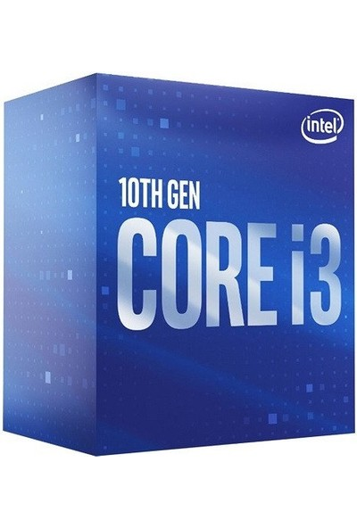 Intel Core I3-10100 Tray Kutusuz Fansız 3.6 Ghz 4.3 Ghz Max FCLGA1200 65W Işlemci
