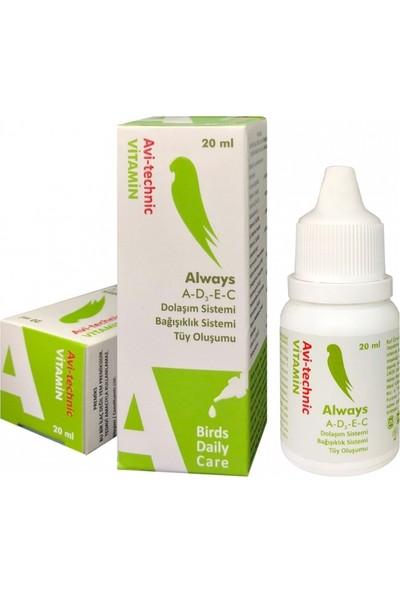 Biyo-Teknik Avitechnic Kuşlar Için Tüy Oluşum Destekleyici Vitamin 20CC