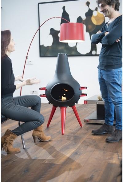 Aniva Cosa Barbekü Kısa Kırmızı Bacak