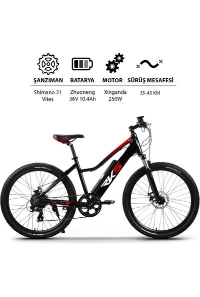 Rks T7 Yol Bisikleti Dağ Bisikleti Elektrikli Şarjlı Lityum Bataryalı Akülü Bisiklet Siyah Beyaz