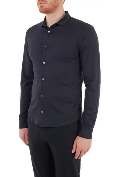 Emporio Armani Slim Fit Düz Yaka % 100 Pamuk Gömlek Erkek Gömlek S 8N1CH6 1jprz 0922