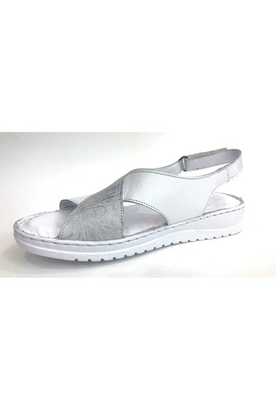 Messimod 4935 Messimod Günlük Kadın Sandalet-Beyaz