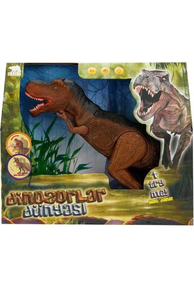 Crazoo Sesli ve Işıklı Büyük Dinozor - Kahverengi