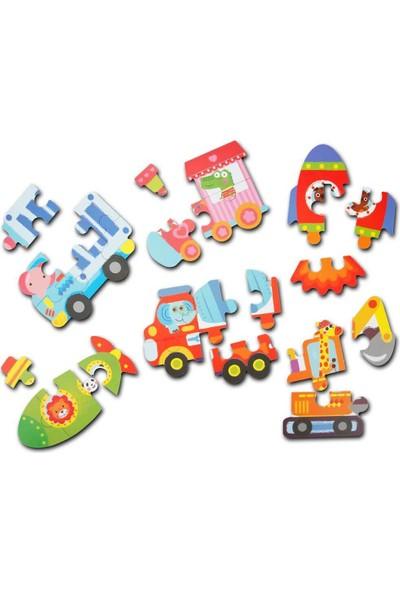 Woody Ahşap 6in1 Araçlar Puzzle 27 Parça