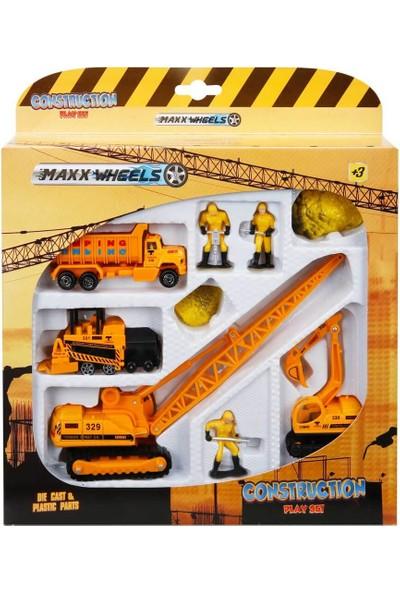 Maxx Wheels Inşaat Araç Seti - Vinç
