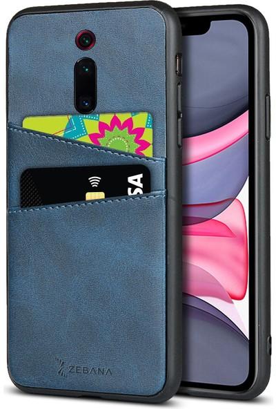 Zebana Xiaomi Mi 9t Pro Kılıf Zebana Swank Cepli Kılıf Mavi