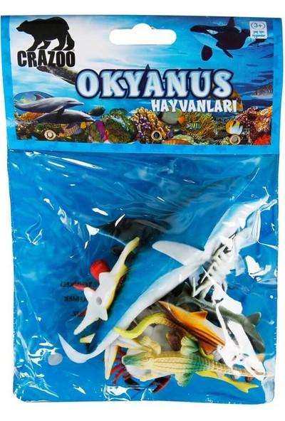 Crazoo Okyanus Hayvanları Poşetli Hayvan Oyun Seti - Mavi Balina