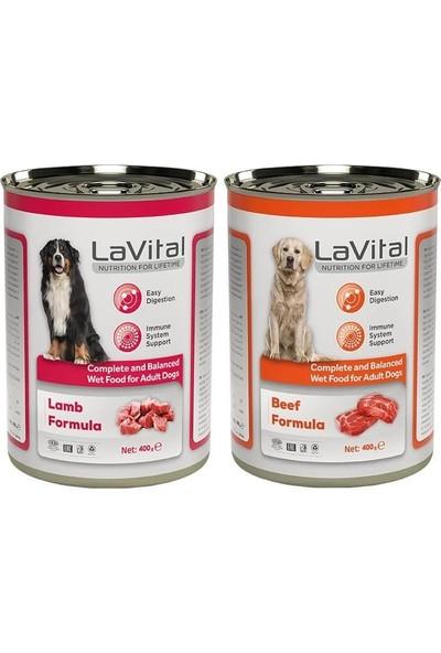 La Vital Biftekli & Kuzulu Bağışıklık Sistemi Destekleyici Yetişkin Köpek Konservesi 400 gr 2 Adet