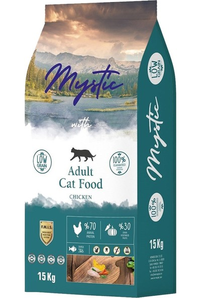 Mystic Az Tahıl.yetiş. Kedi Maması Tavuklu 15 kg