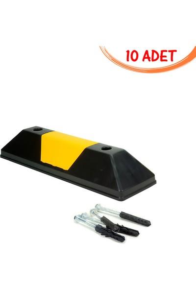 Ilgi Trafik Kauçuk Araç Stoperi Otopark Araç Durdurucu Stoper 550X150X100 mm 10'lu