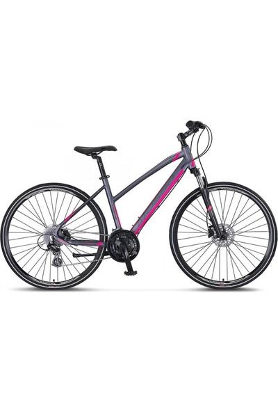 Mosso LEGARDA-2121-LSM-H Bayan Şehir Bisikleti 410H Hd 28 Jant 21 Vites Antrasıt/pembe
