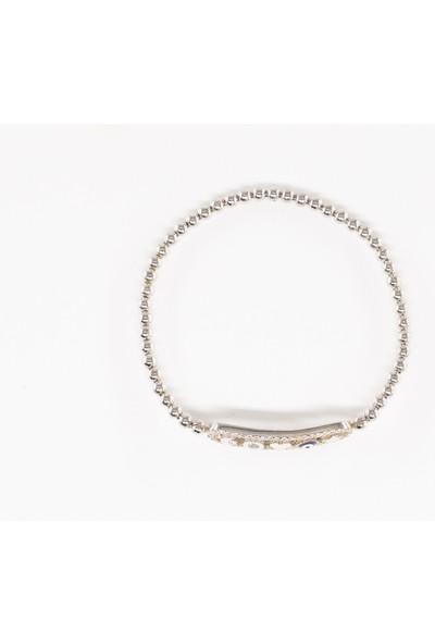 Lili Pırlanta Kadın 925 Ayar Gümüş Ayarlanabilir Bileklik