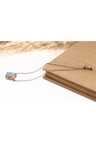 Lili Pırlanta Kadın 925 Ayar Gümüş Doğal Taşlı Bileklik