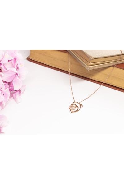 Lili Pırlanta Kadın 925 Ayar Gümüş Yunus Tasarımlı Kolye