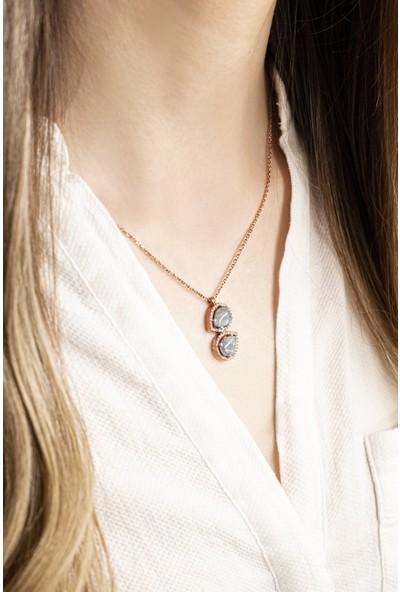 Lili Pırlanta Kadın 925 Ayar Gümüş Doğal Taşlı Kolye