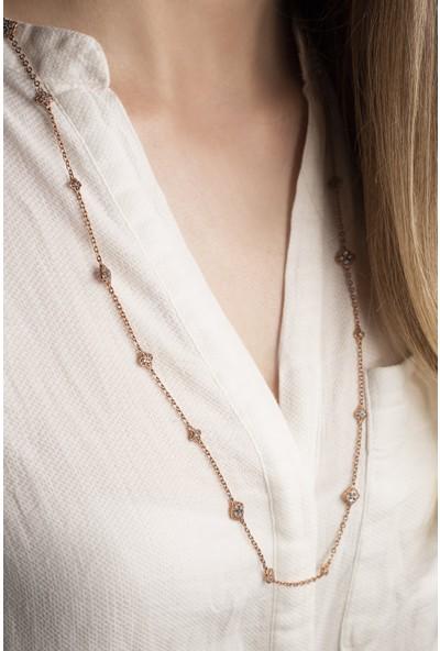 Lili Pırlanta Kadın 925 Ayar Gümüş Swarovski Taşlı Kolye