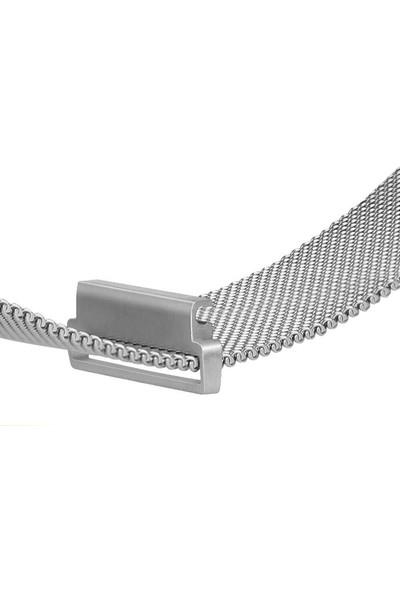 Microcase Amazfit Gts 2e 42MM Için Manyetik Metal Kordon Kayış - KY14
