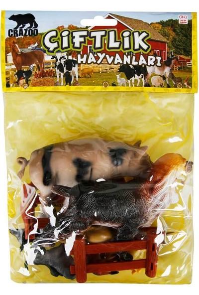 Crazoo Çiftlik Hayvanları Poşetli Hayvan Oyun Seti Orta Boy - Köpek
