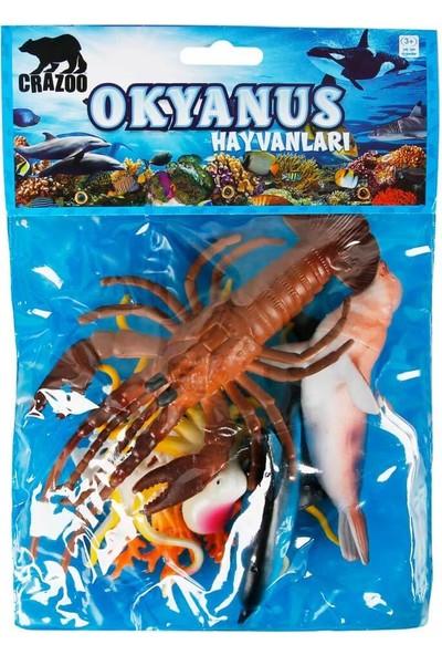Crazoo Okyanus Hayvanları Poşetli Hayvan Oyun Seti Orta Boy - Istakoz