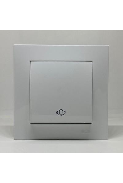 Vega Zil Butonu Anahtar Çerçeveli Kar Beyaz