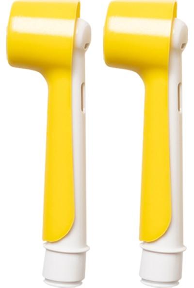Oral-B Şarjlı ve Pilli Diş Fırçaları Için 2 Adet Sarı Renk Koruyucu Kapak