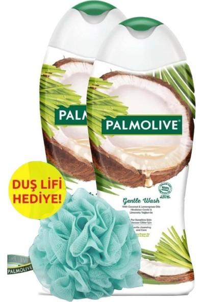 Palmolive Gentle Wash Badem ve Şakayık Yağlı Duş Jeli 500 ml x 2 Adet - Hediye Duş Lifi
