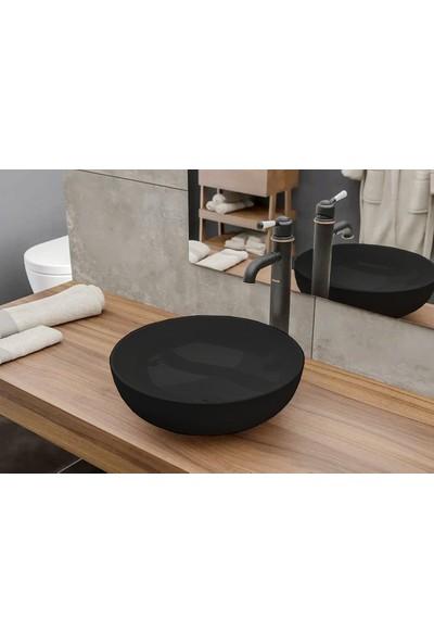 Bocchı Vessel Oval Mini 38 cm Çap Mat Siyah