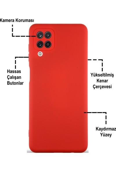 Case World Caseworld Samsung Galaxy M12 Kapak Içi Kadife Kamera Korumalı Lansman Silikon Kılıf - Siyah