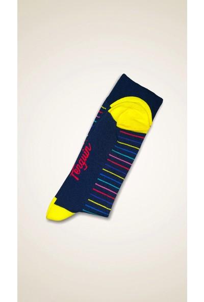 Penguin Renkli Desenli Çorap
