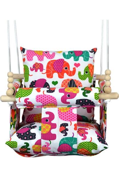 Berra Hayat Tavana Asılabilen Bebek Çocuk Salıncak Doğal Ahşap Çocuk   Bebek Hamak Comfort Filler