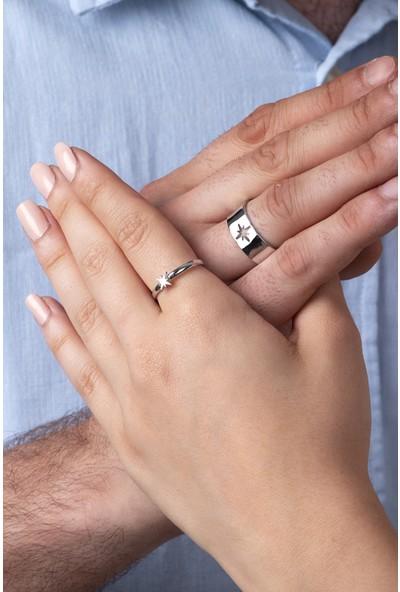 Sortie Accessories Çelik Kutup Yıldızı Figürlü Boyu Ayarlanabilir Çift Yüzük 007
