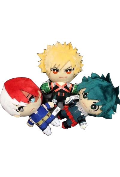 Oyuncak Diyarı 3'lü Anime My Hero Academia Peluş Oyuncak Seti 15CM