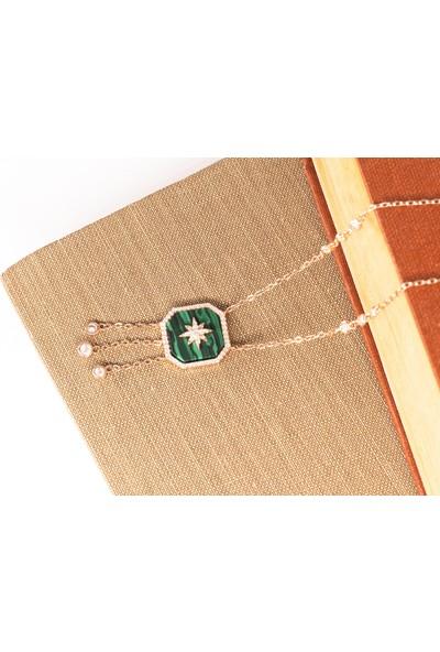 Lili Pırlanta Kadın 925 Ayar Gümüş Swarovski Taşlı Kolye GKL00074-047