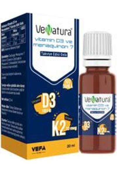 Venatura Vitamin D3-Menaquinon 7 Takviye Edici Gıda 20 ml