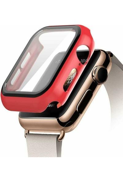 Vip Online Apple Watch 42MM Tpu Çerçeveli Ekran Koruyuculu Ön Çerçeve Kılıf