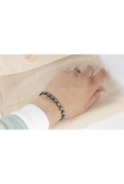 Lili Pırlanta Kadın 925 Ayar Gümüş Swarovski Taşlı Bileklik GMB00033-004