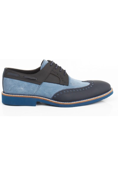 Bruno Shoes 7791E Erkek Günlük Deri Eva Taban Ayakkabı-Lacivert