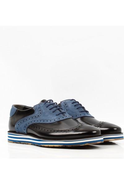 Bruno Shoes 7784E Erkek Günlük Deri Eva Taban Ayakkabı Siyah