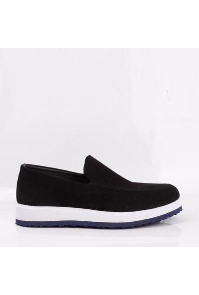 Bruno Shoes LA-570 Erkek Günlük Tekstil Eva Taban Ayakkabı-Siyah
